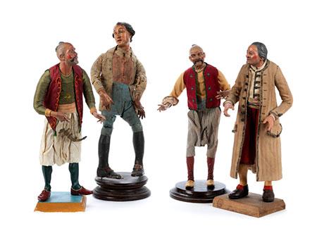 Vier Krippenfiguren