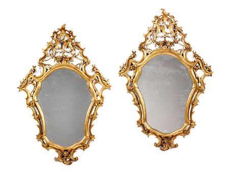 Paar barocke Spiegel