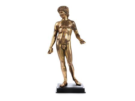 Vergoldete Bronzestatuette des Antinoos