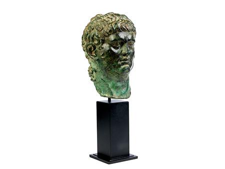 Bronzekopf des Kaisers Nero
