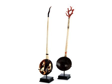 Paar seltene ottomanische Sorbetlöffel