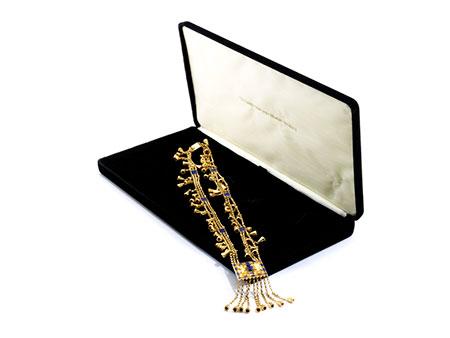 Pharaonisches Gold-Lapiscollier von Franklin Mint