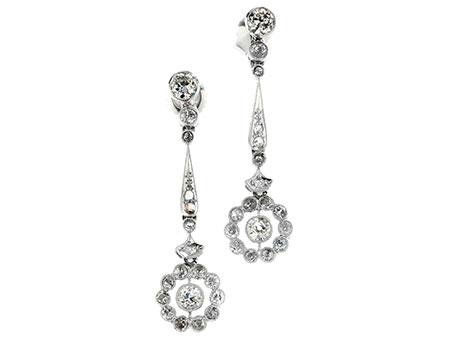 Detail images:  Diamant-Rosettenohrhänger