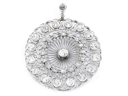 Detailabbildung: Antiker Diamantanhänger