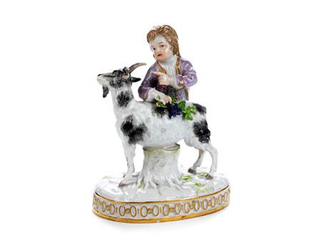 Kleine Meissener Porzellanfigurengruppe