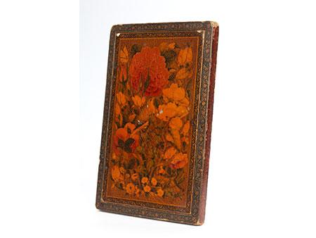 Persischer Klappspiegel in Form eines Buches
