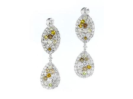 Detail images:  Diamantohrhänger multicolor