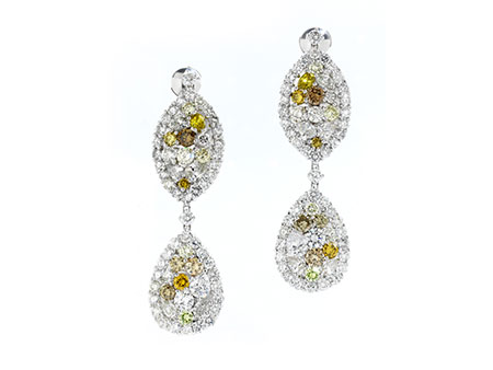 Detailabbildung: Diamantohrhänger multicolor
