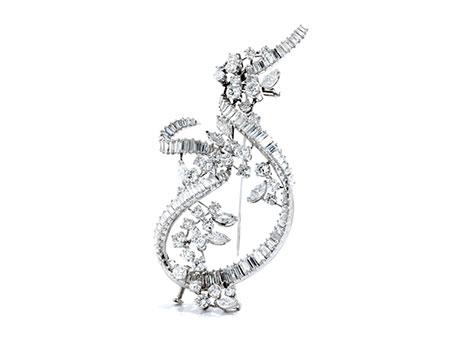 Detail images:  Großer Diamantbroschanhänger