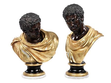 Paar antikische Büsten