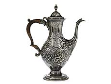 Londoner George III-Silver coffee pot