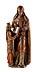 Details: Figurengruppe der Heiligen Anna mit der jugendlichen Maria