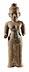 Details: Figur eines Vishnu im Khmer-Stil