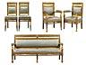 Details: Sitzgarnitur im klassizistischen Stil