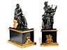 Details: Paar klassizistische Kaminbronzefiguren