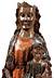 Details: Museale Schnitzfigur einer Madonna mit dem Jesuskind als Weltenherrscher