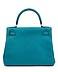 Detail images: Hermès Kelly Togo Cobalt Retourne 28 cm
