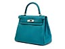 Details: Hermès Kelly Togo Cobalt Retourne 28 cm