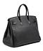 Details: Schwarze Hermès Birkin-Bag, 35 cm