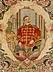 Details: Persischer Teppich mit Darstellung von Kaiser Wilhem II