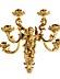 Detail images: Paar prachtvolle vergoldete Wandappliken mit figürlichen Darstellungen