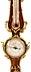 Detail images: Französisches Barometer aus Rosenholz