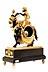 Details: Französische Kaminuhr mit Figurengruppe Mohr auf einem Esel reitend