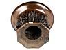 Detail images: Bronzetischaufsatzschale in Form eines Elefantenbrunnens