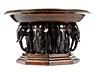 Details: Bronzetischaufsatzschale in Form eines Elefantenbrunnens
