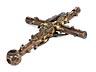 Detail images: Museales frühes Stellkreuz mit Corpus Christi sowie Madonnenfigur unter einem Spitzbaldachin