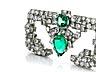 Details: Diamant-Smaragdbrosche von Cartier