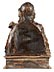 Details: Museale Schnitzbüste eines adeligen Jünglings mit Feldherrenumhang und Löwenkopfschulterstück