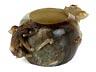 Details: Pinselwaschgefäß in Jade
