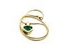 Details: Smaragd-Diamant-Herzanhänger mit Kette