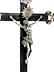 Detail images: Kruzifix mit Silberbeschlag