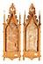 Details: Paar neogotische Ölgemälde