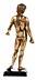 Detail images: Vergoldete Bronzestatuette des Antinoos