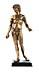 Details: Vergoldete Bronzestatuette des Antinoos