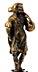Details: Bronzestatuette des Herkules