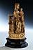 Details: Elfenbeinschnitzfigur einer thronenden Madonna mit dem Jesuskind