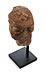 Details: Kleiner Marmorkopf eines behelmten barbarischen Kriegers oder Feldherren