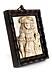 Details: Elfenbeinrelief mit Darstellung und Beischrift Ludwig XIV