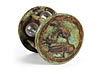Detail images: Seltenes Sanduhrstundenglas in einem Gestell mit Arte Povera-Fassung