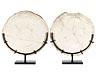 Details: Zwei runde Mosaikdarstellungen