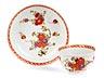 Details: Meissener Koppchen mit Tischchenmuster