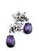 Details: Amethyst-Diamantohrhänger