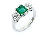 Details: Smaragd-Diamantring