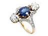 Details: Jugendstil-Saphir-Diamantring