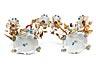 Details: Paar figürliche Porzellantischleuchter