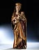Details: Spätgotische Madonnenfigur mit Kind